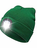 cheap -1pc unisex led knitted flash light beanie hat with usb rechargeable battery