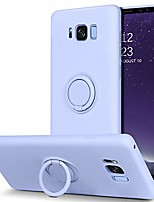"""cheap -samsung galaxy s8 case, slim silicone soft rubber with 360° ring holder kickstand car mount supported shockproof bumper protective non-slip cute case for samsung galaxy s8 5.8"""" (2017), purple"""