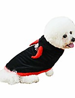 cheap -dog costume devil bull's horns design pet halloween hoodies theme party cape winter warm coat for small medium dogs, cats (l)