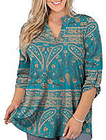 cheap -cizitzz womens tops plus size floral v neck tee shirts casual soft buttons up tunic short sleeve,bu1,1x