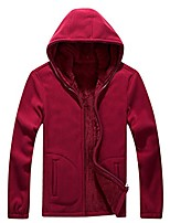 cheap -men's full-zip warm sherpa lined polar fleece hoodie jacket sweatshirt red xl