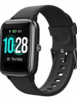 cheap -smart watch activity fitness tracker watch, compatible with android and ios phone, bluetooth smartwatch with heart rate monitor ip68 waterproof, step sleep tracker, for men women kids, black