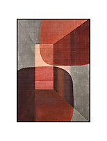 cheap -100% Hand Painted High Quality Gray Red and Grey Abstract Dreamlike Shading Method Oil Painting Canvas Handmade Painted Home Decor Artwork
