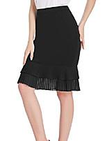 cheap -womens black pencil skirts knee length wrok bodycon skirt x-large