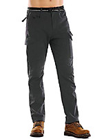 cheap -men outdoor fleece lined windproof hiking pants waterproof ski pants #6076 grey-40