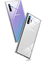 cheap -galaxy note 10 plus case, note 10 plus clear case, 9h tempered-glass back cover, crystal clear ultra-thin slim fit soft tpu glass case compatible with samsung galaxy note 10 plus 5g 6.8 inch