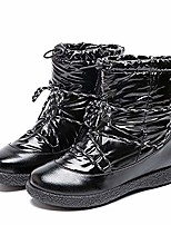 cheap -women waterproof snow boots-womens warm winter rain ankle booties shiny comfortable fur lining rainboots black size 8.5