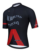 cheap -Men's Short Sleeve Cycling Jersey Red Bike Top Mountain Bike MTB Road Bike Cycling Breathable Quick Dry Sports Clothing Apparel / Stretchy / Athletic