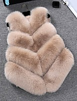 cheap -Sleeveless Coats / Jackets Faux Fur Party / Evening Women's Wrap With Fur