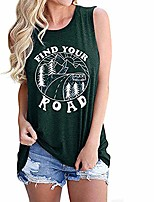 cheap -women casual american flag pattem sleeveless t-shirt hollow out top carved a hole sleeveless tank (green, l)