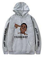 cheap -Inspired by Never Broke Again Young Boy Cosplay Costume Hoodie Polyester / Cotton Blend Graphic Printing Hoodie For Men's / Women's
