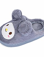 cheap -girls winter slippers cute cartoon slippers toddler animal slippers girls warm house shoes for kids, gray 7-8 toddler
