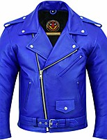 cheap -motorcycle leather jackets for mens cowhide biker jacket cafe racer lining silver eyelets ykk zipper coat (red, 8xl)