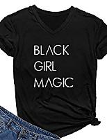 cheap -women graphic v-neck black girl magic t shirt juniors cute tops black x-large