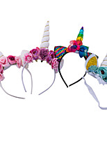 cheap -1pcs Toddler Girls' Active / Sweet Unicorn Floral Floral Style Hair Accessories White / Blue / Purple