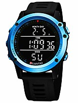 cheap -black digital sports watch silicone band led screen big face military watches waterproof casual luminous stopwatch alarm simple army watch for mens womens - blue case