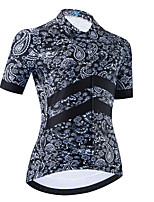 cheap -Women's Short Sleeve Cycling Jersey Black Bike Top Mountain Bike MTB Road Bike Cycling Breathable Quick Dry Sports Clothing Apparel / Stretchy / Athletic