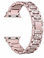 cheap -bling bands compatible with apple watch band 42mm 44mm women iwatch se series 6/5/4/3/2/1, dressy jewelry metal bracelet with rhinestones, rose gold
