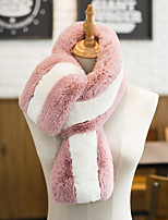 cheap -Sleeveless Scarves Faux Fur Party / Evening / Office / Career Women's Scarves With Stripe