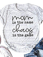 cheap -mom shirts for women mom life t shirt letters print short sleeve mama tee with funny sayings (white, m)