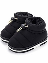 cheap -boys girls warm house boots kids slippers toddler fuzzy indoor bedroom shoes(5-6 toddler,black)