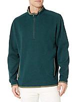 cheap -1/4 zip pullover, balsam green, small