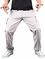 cheap -men's outdoor stretch quick dry hiking capri pants lightweight cargo travel pant-breathable beige