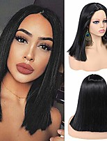 cheap -quick wig short straight wig bob wigs natural black synthetic wigs shoulder length brazilian virgin wigs for women 14 inches