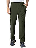 cheap -men's lightweight breathable quick dry hiking mountain pants zipper pockets army green s