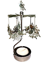 cheap -rotary candle holder spinning candleholder metal small gift (bird)