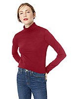 cheap -women's plus size turtleneck tee, crimson maple, 3x