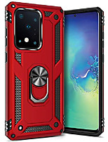 cheap -ring kickstand phone case for samsung galaxy s20 ultra (2020),heavy duty dual layer drop protection galaxy s20 ultra case,hard shell + soft tpu + ring stand fits magnetic car mount,red
