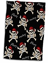 "cheap -3d rose print of cute ahoy matey pirate toss twl_204403_1 towel, 15"" x 22"""