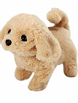 cheap -plush golden retriever electronic interactive toy walking,barking,wagging tail,stretching puppy dog 7 inches gifts for kids (gold)