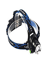 cheap -zoomable 3 modes super bright led headlamp with rechargeable batteries for biking camping hunting running rainy weather