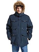 cheap -mens winter military warm jacket fleece coat with detachable fur hood outwear navy 321 xx-large