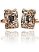 cheap -1 pair cufflinks crystal cuff links for men business wedding party presents gifts