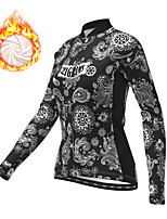 cheap -21Grams Women's Long Sleeve Cycling Jacket Winter Fleece Polyester Black Bike Jacket Top Mountain Bike MTB Road Bike Cycling Thermal Warm Fleece Lining Breathable Sports Clothing Apparel / Stretchy