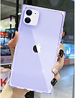cheap -iphone 11 case square transparet, for apple iphone 11 shockproof cover anti-scratch reinforced corners flexible protective tpu ultra thin slim for iphone 11 6.1 inches 2019 (clear/light purple)