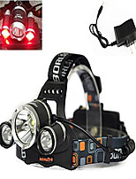 cheap -3x cree led 4 modes super bright 5000lm red and white lights headlamp tactical headlight red hunting light lamp flashlight torch for camping, climbing, cycling (battery not included)