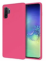 cheap -case for samsung galaxy note 10 plus/note 10 5g plussilicone gel rubber bumper cover phone slim thin hard shell shockproof full-body protective case - hot pink