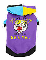 cheap -Dog Cat Hoodie Animal Tiger Classic Casual / Daily Winter Dog Clothes Puppy Clothes Dog Outfits Breathable Purple Costume for Girl and Boy Dog Cotton Polyster XS S M L XL XXL