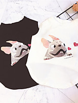 cheap -Dog Shirt / T-Shirt Bulldog Basic Cute Casual / Daily Dog Clothes Puppy Clothes Dog Outfits Breathable White Black Costume for Girl and Boy Dog Cotton S M L XL XXL