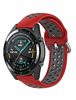 cheap -bands for samsung galaxy watch 46mm/gear s3,22mm silicone replacement band quick release wristband for huawei watch gt 46mm/watch gt 2 46mm/ticwatch pro/s2/e2(red/gray)