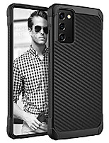 """cheap -samsung galaxy note 20 5g case, 2 in 1 hybrid hard pc cover soft tpu bumper non-slip shockproof protective carbon fiber texture phone cases for samsung galaxy note 20 5g 6.7"""" (2020), black"""