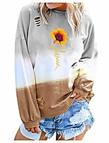 cheap -sweatshirts for women casual gradient colorblock long sleeve pullover tops cozy plus size t-shirt blouse gogoodgo