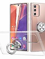 cheap -galaxy note 20 case, kickstand cover for samsung galaxy note 20 case ring holder anti drop grip shell slim fit case soft shockproof bumper flexible protective cases for samsung galxy note 20 5g clear
