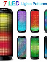 cheap -Portable Wireless Bluetooth Speakers 7 LED Lights Patterns Wireless Speaker V4.1 Hi-Fi Bass Powerful Sound Built-in Microphone HandsFree Audio-Auxiliary Home Outdoor Rechargeable Bluetooth Speaker