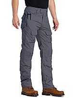 cheap -men's ripstop durable quick dry outdoor hiking work classical tactical pants gray