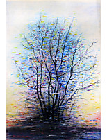 cheap -Tree Oil Painting On Canvas Abstract Contemporary Art Wall Paintings Handmade Painting Home Office Decorations Canvas Wall Art Painting